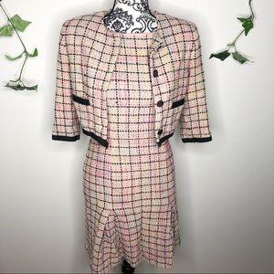 Vintage Talbots Tweed Dress and Blazer Set